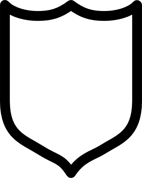 Blank Shield Clipart - Clipart Kid