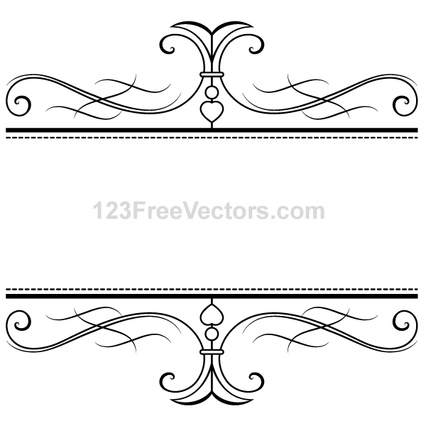 Calligraphy Ornamental Frame Vector Graphics By 123freevectors On