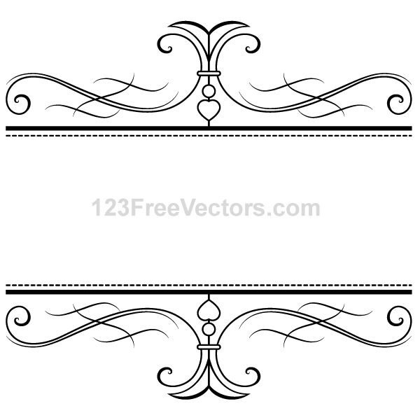 Calligraphy Ornamental Frame Vector Graphics   Download Free Vector