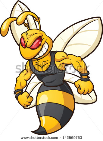 Fighting Bee Clipart - Clipart Kid