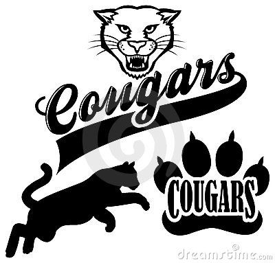 Cougar Paw Clip Art   Cougar Team Mascot Royalty Free Stock