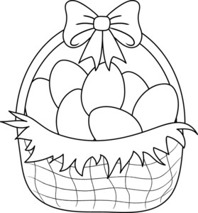 Easter Basket Clipart Image   Clip Art Illustration Of A Basket Of