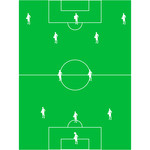 Football  Soccer  Field With The Arrangement Of Players 3 2 5 Clipart