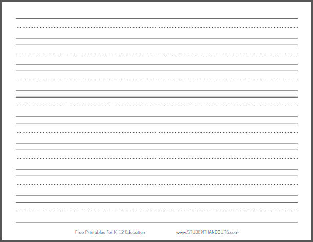 For A Sheet With Only Six Lines Giving More Space Between Each Line