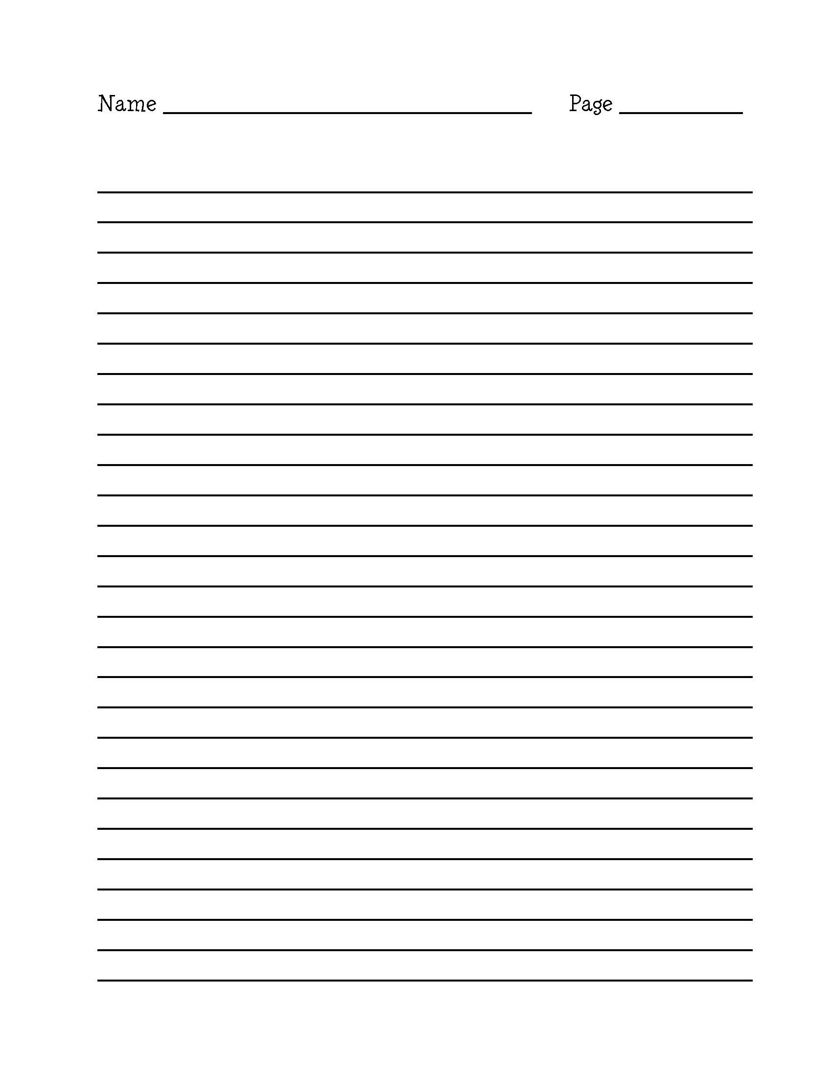 Free Writing Paper With Lines And Borders