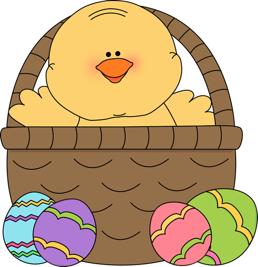 Inside An Easter Basket Clip Art   Chick Inside An Easter Basket Image