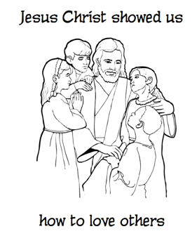 Pictures Of Jesus Loving Others Coloring Pages