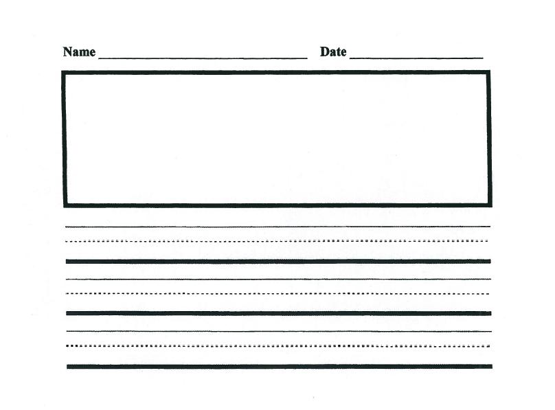 math worksheet : kindergarten writing lines clipart  clipart kid : Kindergarten Blank Writing Worksheets