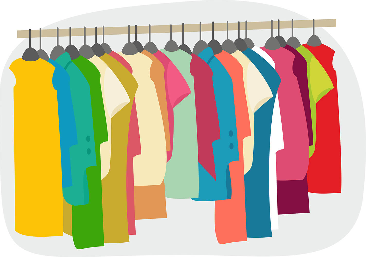 Open Wardrobe Clipart Clothes Wardrobe Clipart