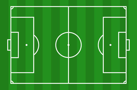 Pictures Football Pitch Soccers Field Measurements Clip Art Vector