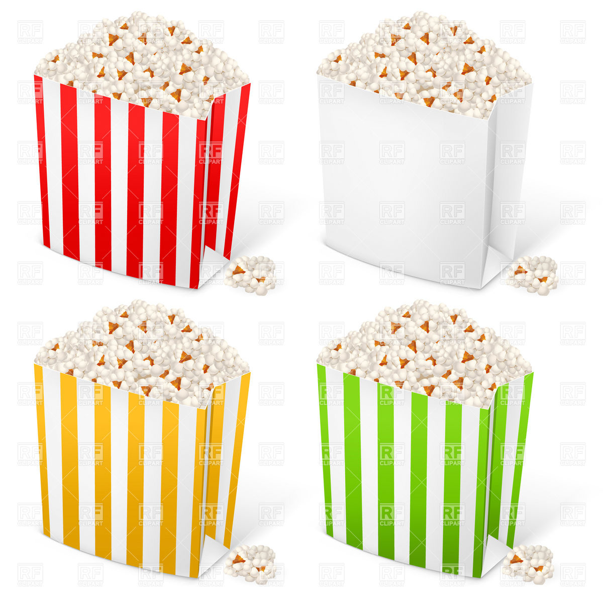 Popcorn In Multi Colored Striped Packages 8031 Food And Beverages