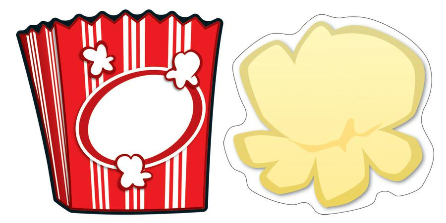 Printable Popcorn Border Popcorn   Boxes Cut Outs