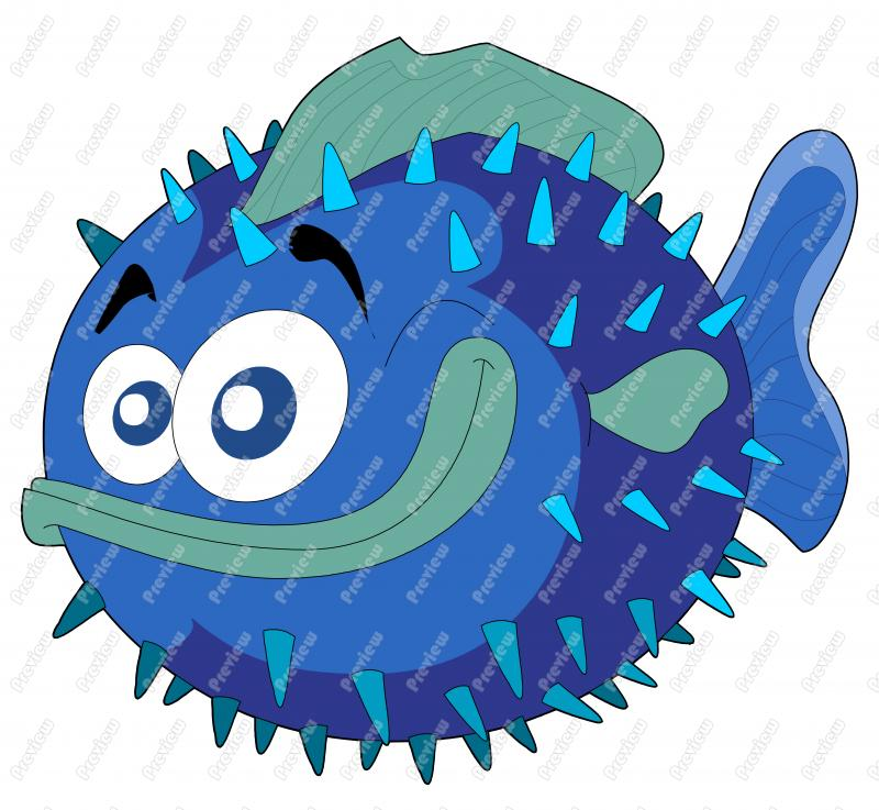 Puffer fish clipart clipart suggest for Puffer fish art