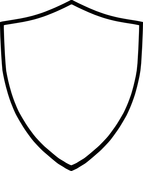 Shield White Clip Art At Clker Com   Vector Clip Art Online Royalty