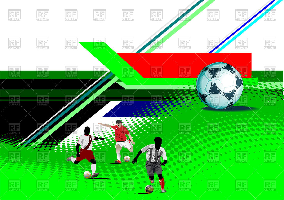 Soccer Field And Players 54185 Download Royalty Free Vector Clipart