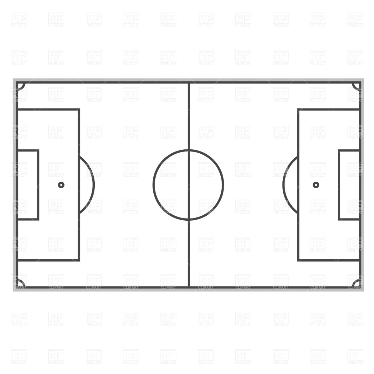 Soccer Field Clipart Soccer Field Plan Download Royalty Free Vector