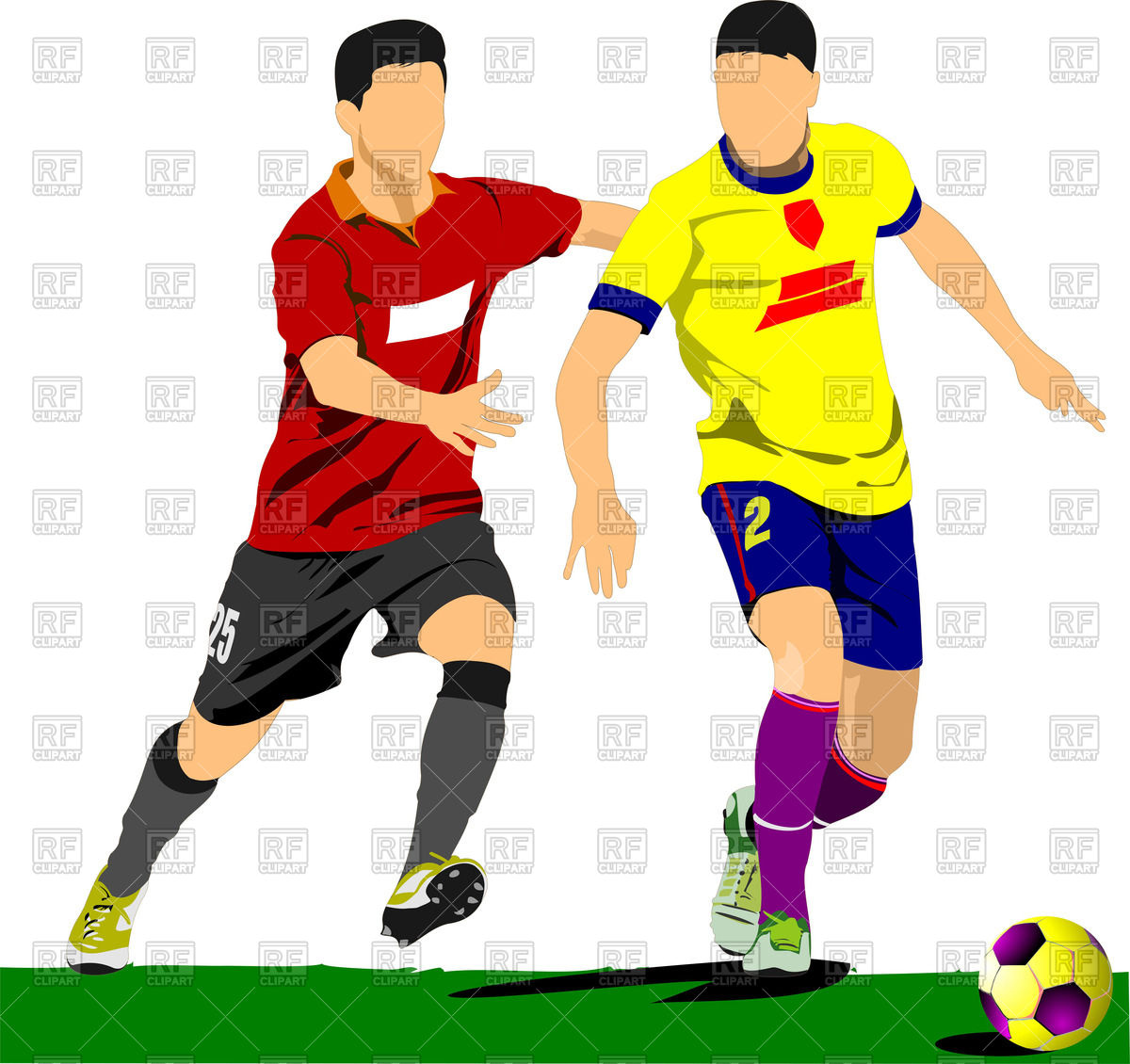 Soccer Players On Field 52521 Download Royalty Free Vector Clipart