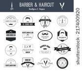 Stock Vector Perfect Set Of Barber And Haircut Logos Men S Haircuts