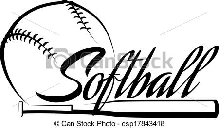 Vector   Softball Ball Banner   Clipart Panda   Free Clipart Images