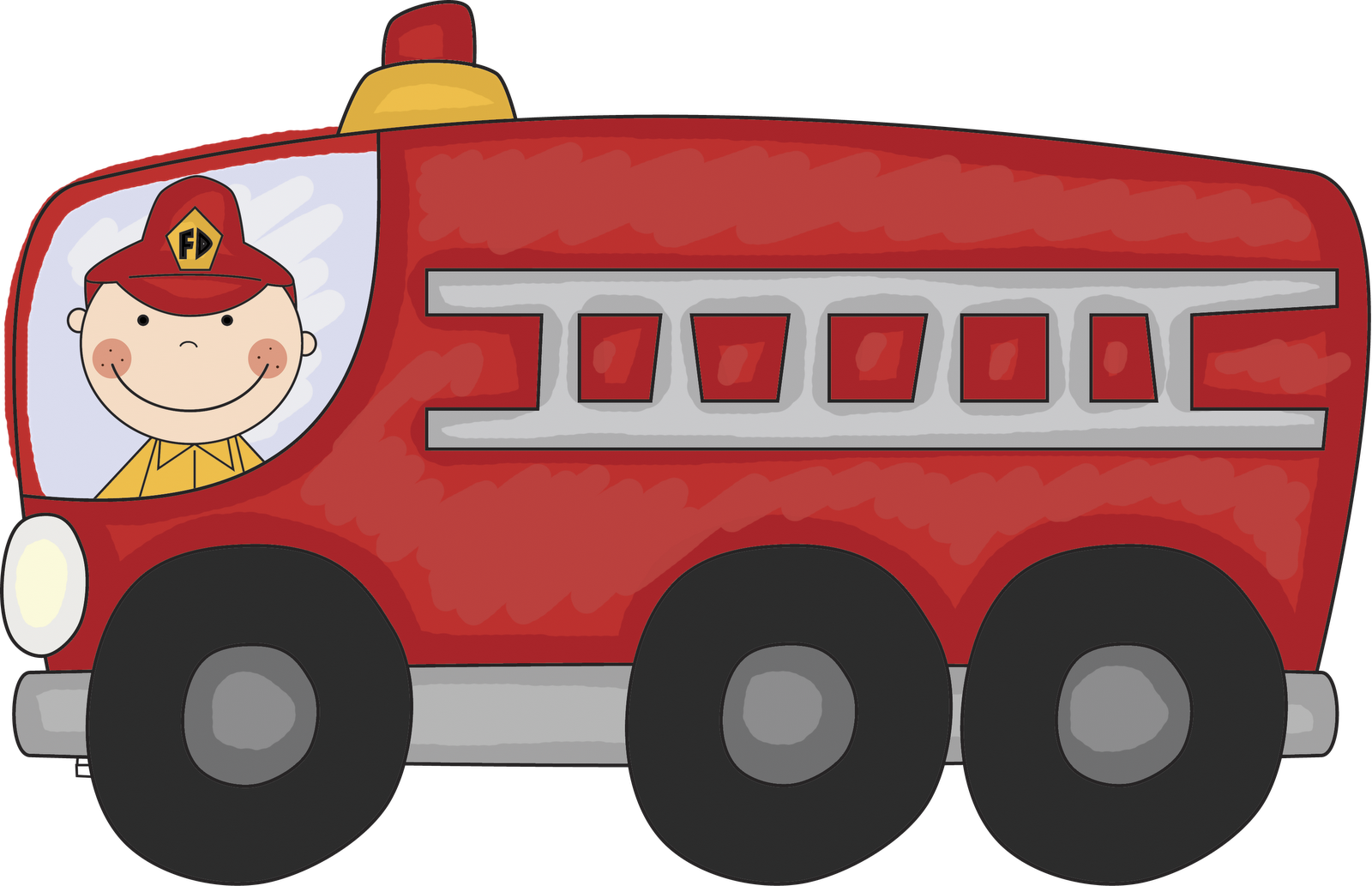 Vintage Fire Truck Clipart   Clipart Panda   Free Clipart Images