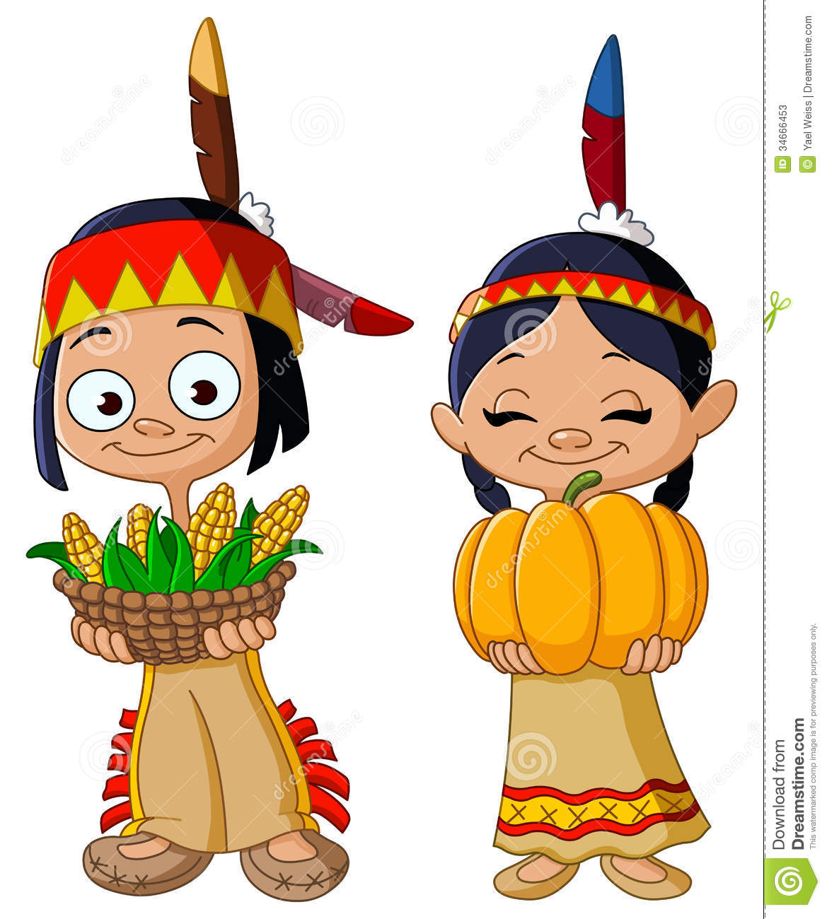 thanksgiving indian clip art - photo #24