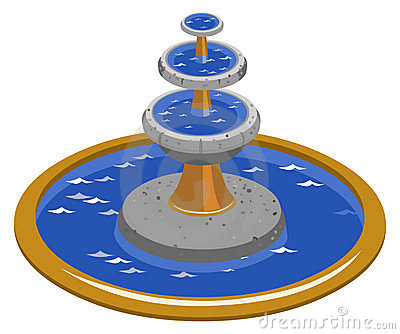 Clip Art Fountain Clipart water fountain clipart kid isometric stock photo image 10567830