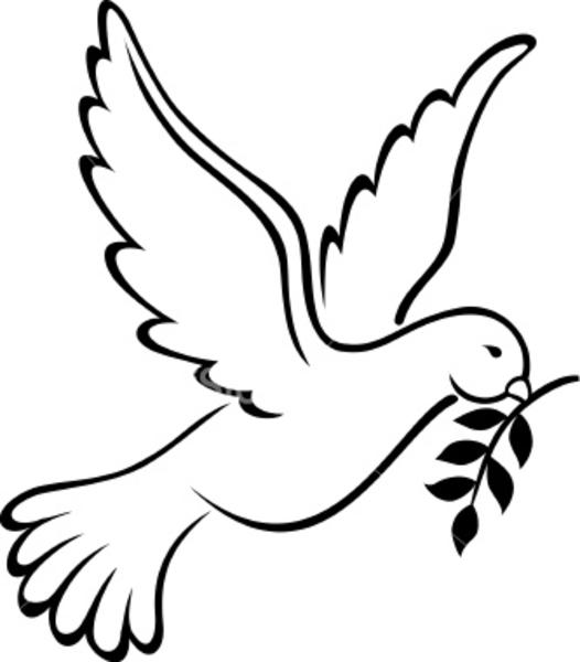 Holy Spirit Dove Clipart Black And White   Clipart Panda   Free