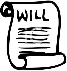 Last Will And Testament   Royalty Free Clipart Picture