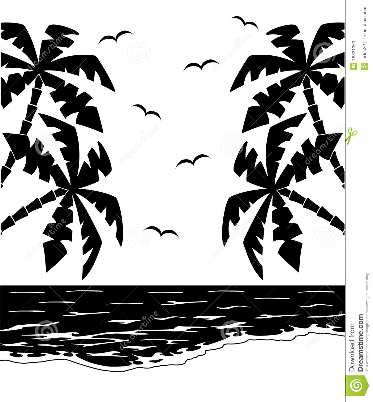 More Similar Stock Images Of   Black And White Tropical Landscape