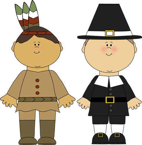 Pilgrims And Indians Clipart Indian Boy And Pilgrim Boy