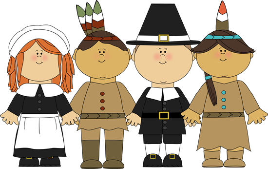 Pilgrims And Indians Clipart - Clipart Kid