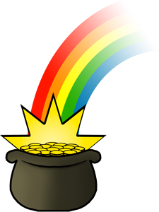 st patrick s day pot of gold clipart clipart suggest rainbow and pot of gold clipart clipart rainbow pot of gold clipart black and white