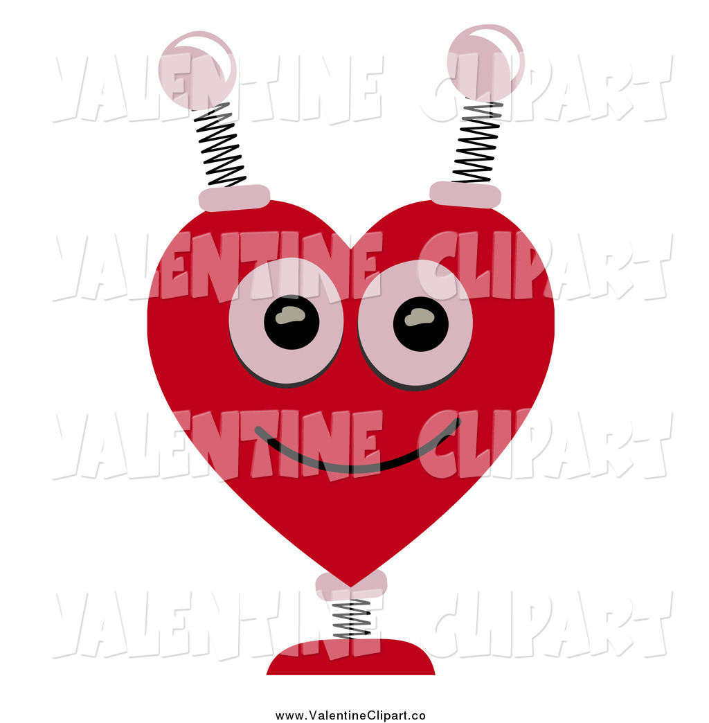 Preview  Vector Clip Art Of A Springy Heart Shaped Robot Head By Mheld