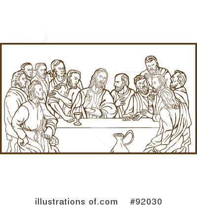 Royalty Free  Rf  Last Supper Clipart Illustration By Patrimonio