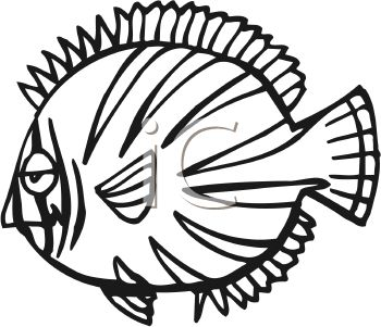 Cartoon Fish Black And White Clipart - Clipart Kid