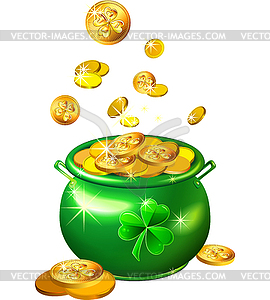 Green Pot Of Gold Clipart St. Patrick's Day Pot ...