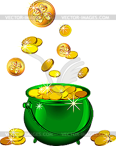 Green Pot Of Gold Clipart St Patrick S Day Green...