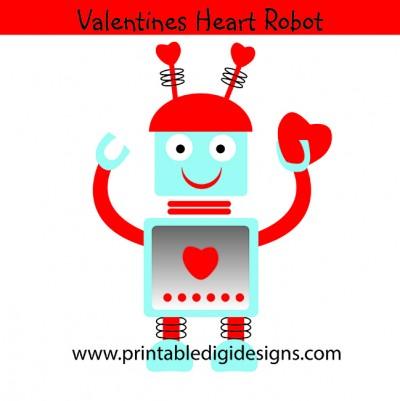 Valentine Heart Robot Clipart   1 00 Valentine Heart Robot Clipart
