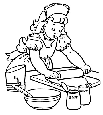 Baking Coloring Page Graphicsfairy2   The Graphics Fairy