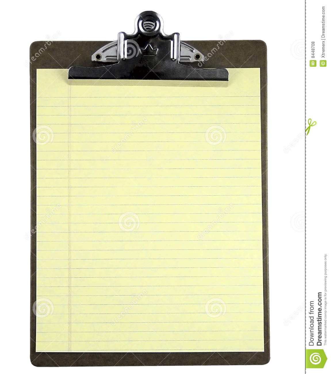 Blank Clipboard Notepad Isolated On White  Royalty Free Stock Photos