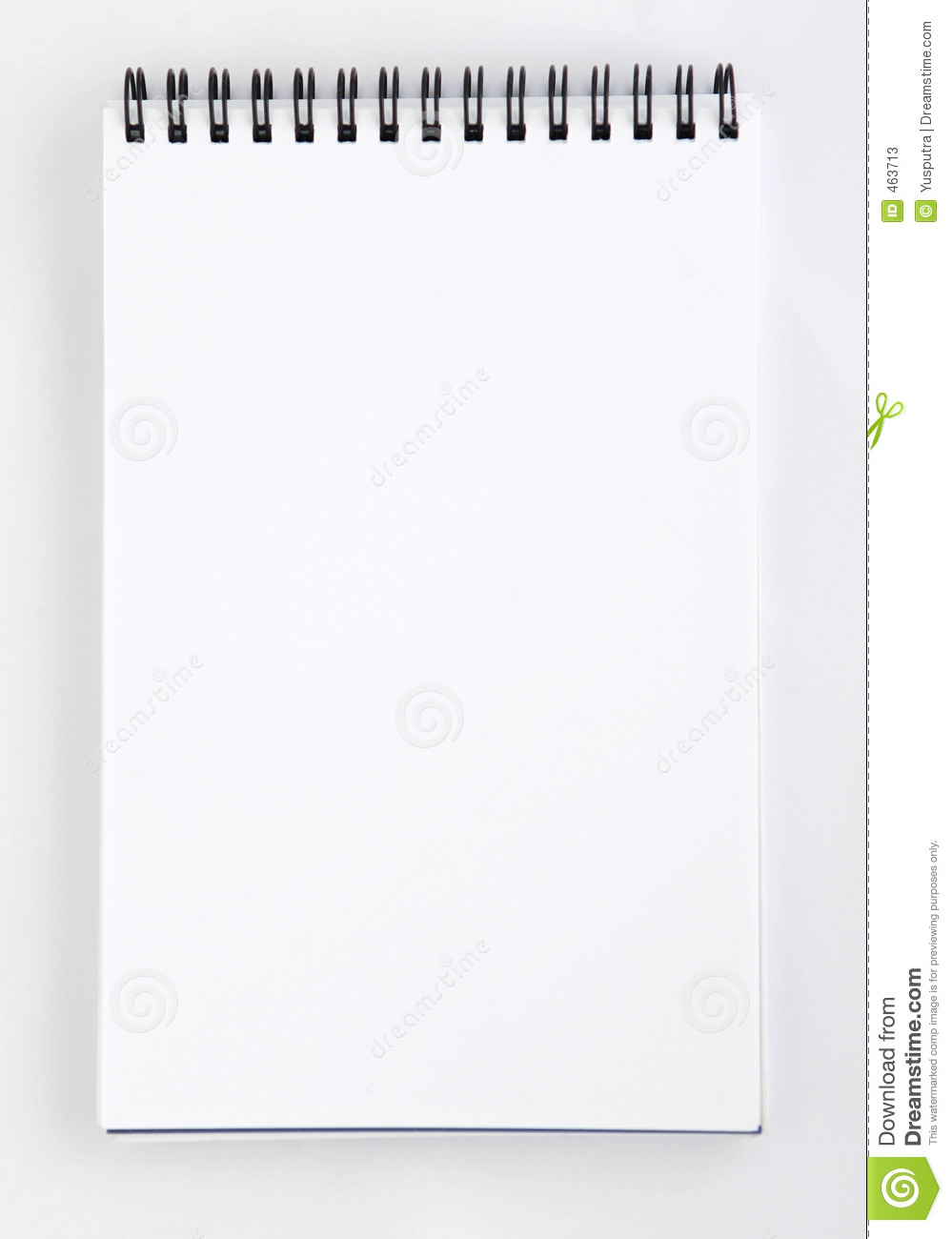 Blank Notepad 2 Stock Photos   Image  463713