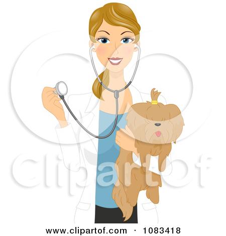 Girl vet clipart