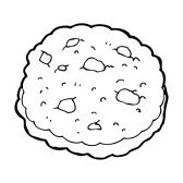 Cookie Clipart Black And White 25015042 Chocolate Chip Cookie Cartoon