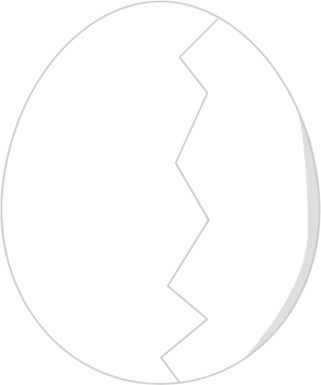 Cracked Egg   Clip Art Image Of An Egg With A Cracked Down The Middle