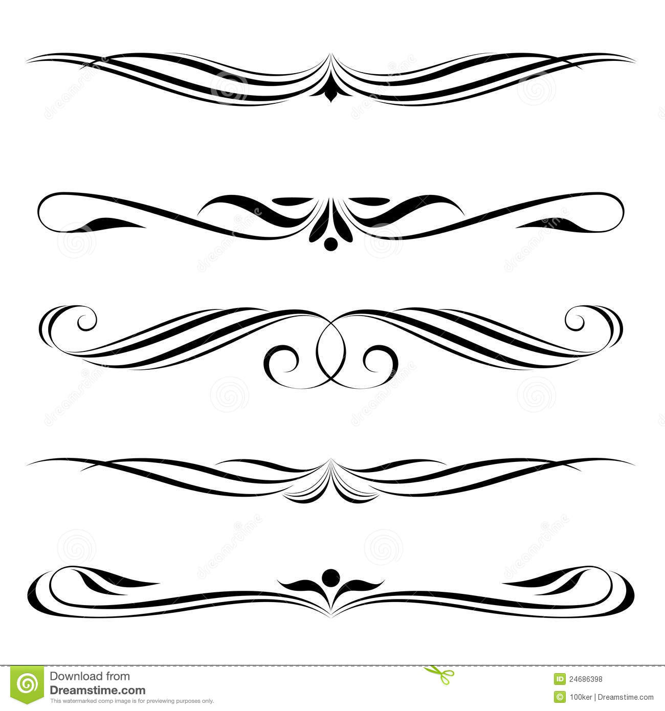 Decorative Line Clip Art