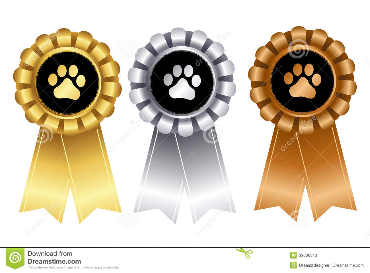 dog show certificate template - dog award ribbon rosettes for 1st 2nd and 3rd place
