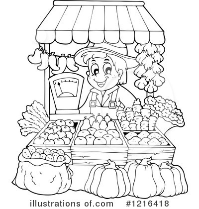 Farmers Market Stand Clipart Royalty Free  Rf  Farmer
