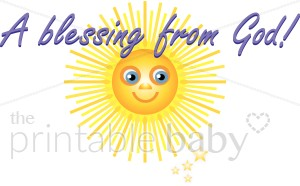 Happy Sun With A Blessing From God