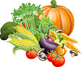 Healthy Fresh Produce Vegetables   Royalty Free Clip Art