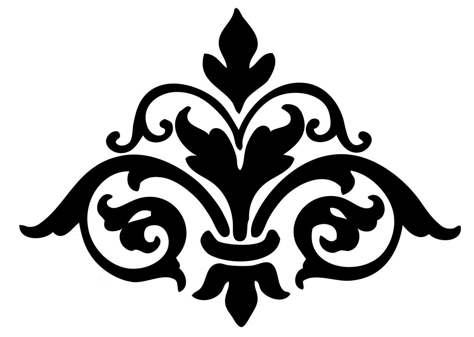Free Black And White Flourish Clipart